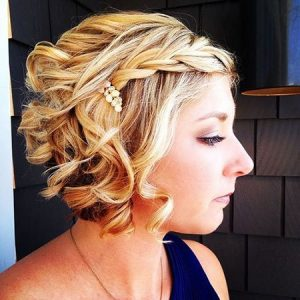 Wedding Hairstyle for Girls with Short Hair