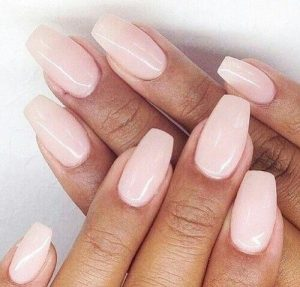 Classic Mid-Length Pastel Pink Nails