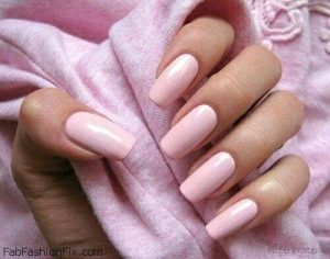 Innocent And Classy Mid Length Pink Nails