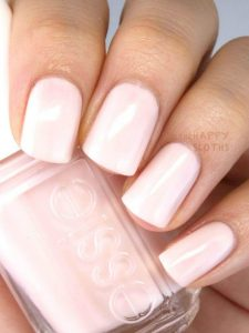 Tailored Pale Pink Nails With Short Rounded Nails