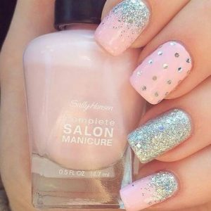 Dance All Night – Light Pink, Glitter, And Polka Dots