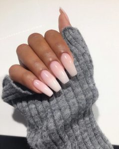 Acrylic Nails in a Long Square Design