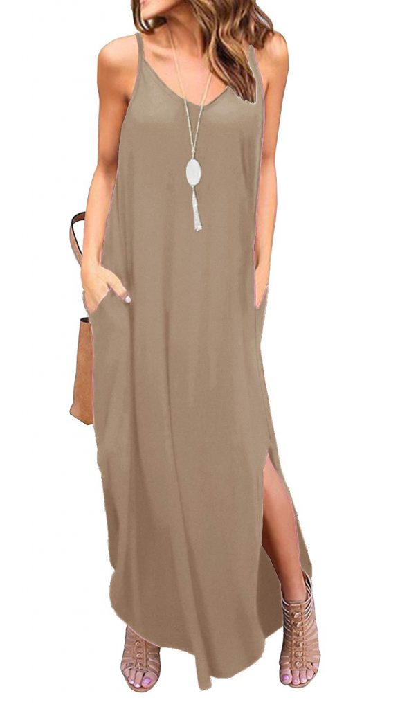 GRECERELLE Womens Summer Casual Loose Maxi Dress