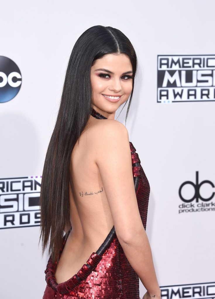 Selena Gomezs Message to Herself. Celebrities with Cool Tattoos