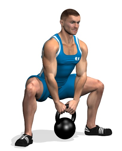 Sumo Squat. Full Body Kettlebell Workout for Beginners