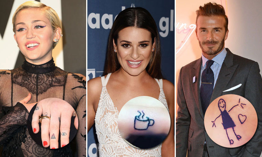 The Coolest Celebrities with Trendy Tattoos. Celebrities with Cool Tattoos