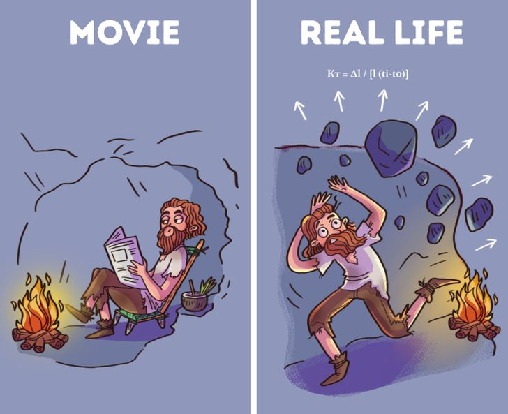 A Cave is a Perfect Place to Start a Fire. Movie Myths Debunked