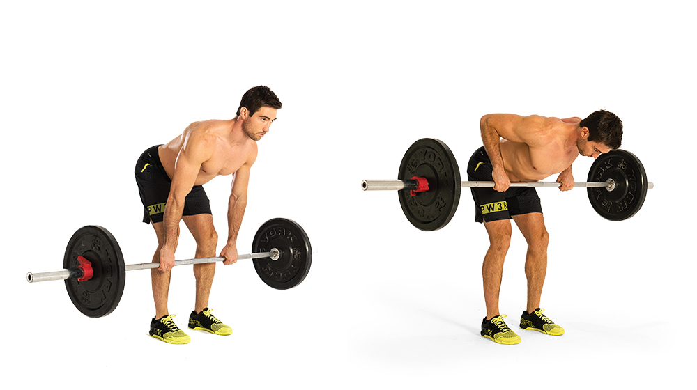 Bent-Over Row. Workout to Build a Bigger Chest