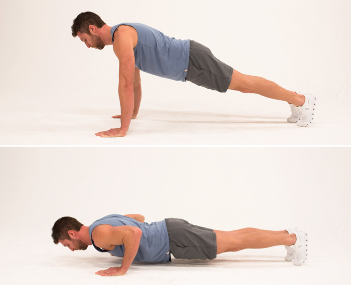 Press-Ups. Workout to Build a Bigger Chest
