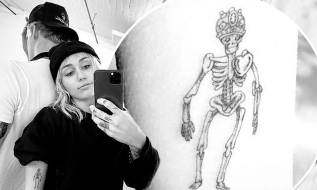 Miley Cyrus Skeleton Tattoo. Miley Cyrus Tattoos Meaning