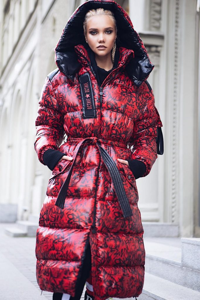 Winter Wear Fashion Clothes. Sporty-Chic Parka