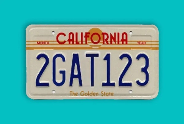The 2GAT123 License Plate. Cool Movie Props to Make