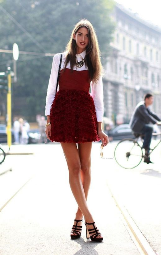 Layer Over a Slip Dress. Some Cool Ways to Wear a White Shirt & Look Incredible