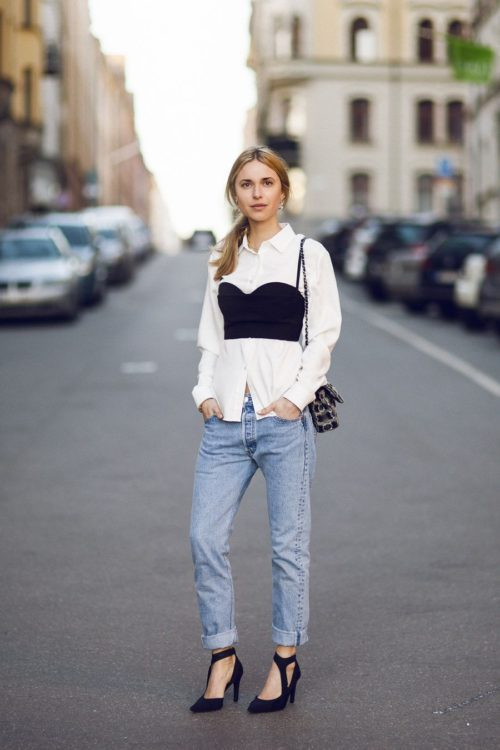 White Shirt with Corset Top. Some Cool Ways to Wear a White Shirt & Look Incredible