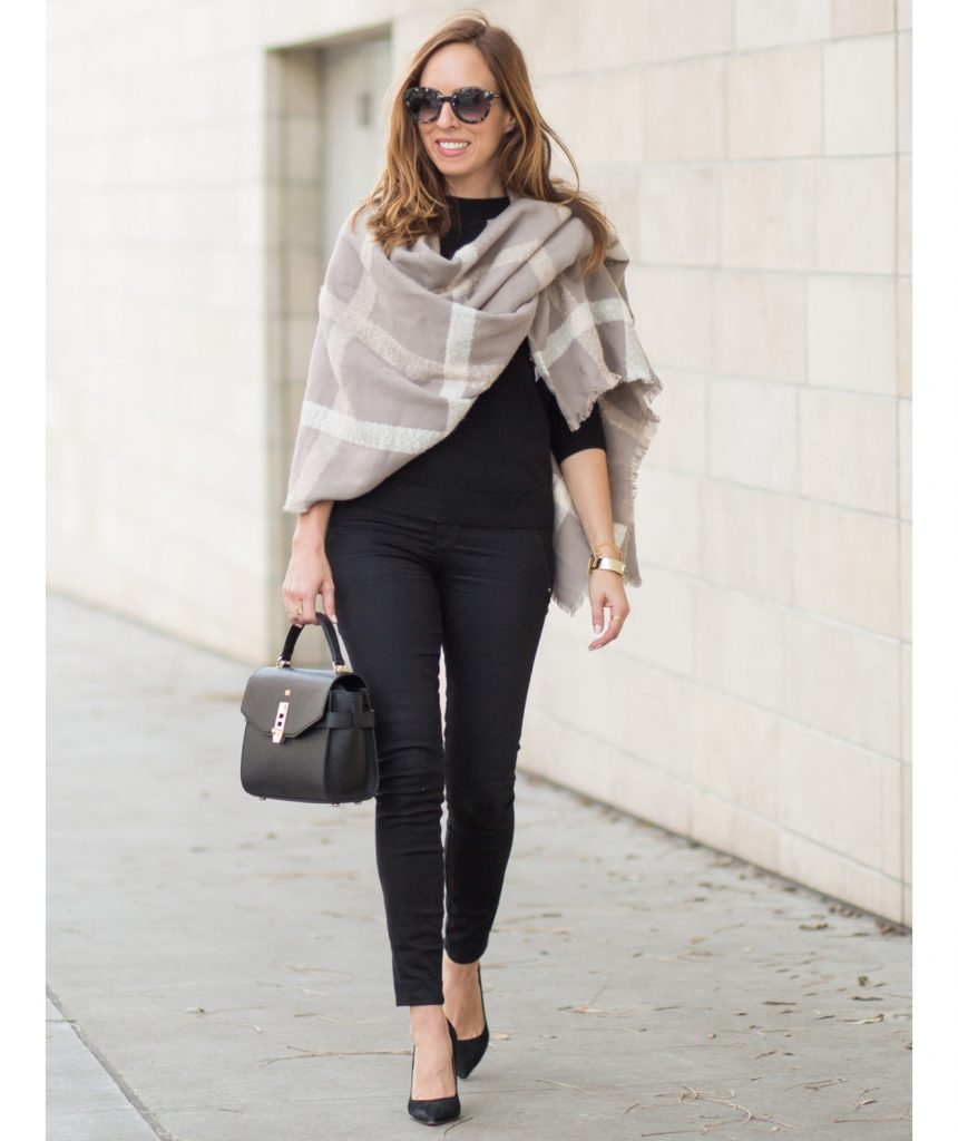 Blanket Scarf with Uneven Tail. Best Way to Tie a Blanket Scarf