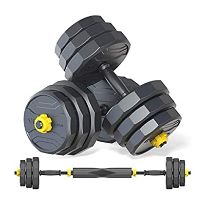 IRUI Adjustable Dumbbell Set with Barbell. Best Adjustable Dumbbell Sets for Home